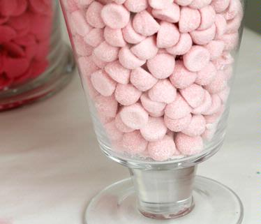 Baby Pink Sour Gum Drops - Strawberry - 2.2 LB Bag