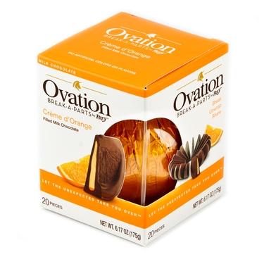 Milk Chocolate Orange Break A Part Ball Chocolate Candy