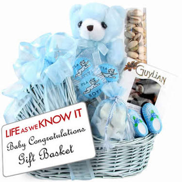 Baby Boy Congratulations Gift Basket Inspired by