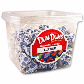 Blueberry Dum Dum Pops - 12CT Box