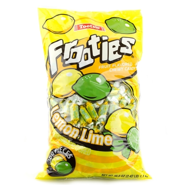 Purple Tootsie Roll Frooties Taffy Candy - Lemon Lime