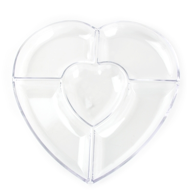 Heart Shaped Lucite Dish