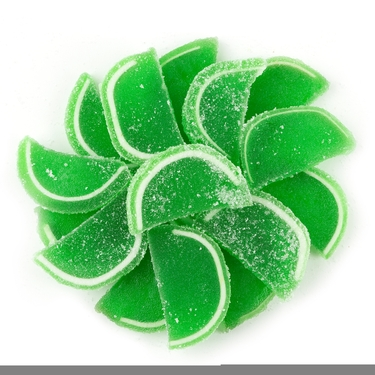Lime Jelly Fruit Slices - 5LB Box