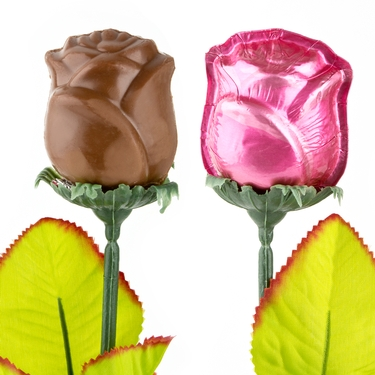 Pink Milk Chocolate Rose - 1 Pc