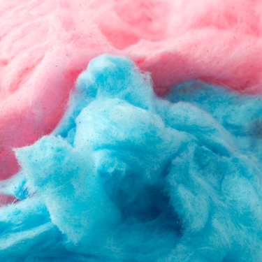 Pink and blue cotton candy