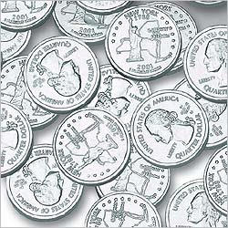 Silver State Quarters Milk Chocolate Coins