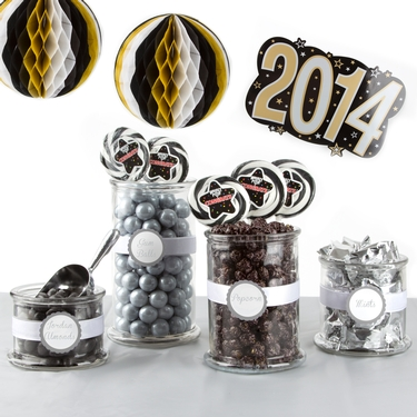 Silver Graduation Candy Buffet