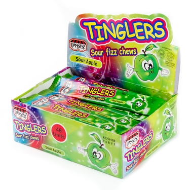 Tinglers Apple Sour Fizz Chews - 48CT