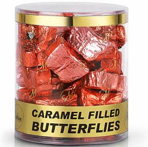 Caramel Filled Milk Chocolate Butterflies Tub