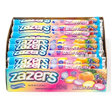 Zazzers Mixed Fruit Candy Rolls- 16CT