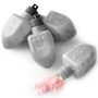 Hanukkah Strawberry Fizz Silver Dreidels Candy - 18CT Bag