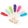 Wholesale Colorful Small Unwrapped Rock Candy Swizzle Sticks - 72CT Box