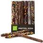Rainbow Chocolate Covered Pretzel Rods Gift Box