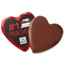 '#1 Teacher' Dark Belgian Chocolate Message Heart