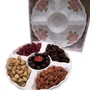 Ceramic 5 Sectional Chocolates and Nuts - Israel Only