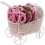 Baby Girl Carriage W/Pretzels
