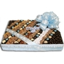 Baby Boy Chocolate & Nut Square Gift Basket - Large