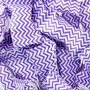 Purple Chevron Stripe Wrapped Buttermint