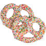 White Chocolate Covered Pretzels with Rainbow Nonpareils - 10CT