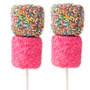 Chocolate Dipped Marshmallow Pop - Pink Crystals