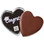 Congrats Dark Belgian Chocolate Message Heart