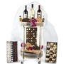 Purim Roll Out The Party Wheeled Serving 2 Tier Table