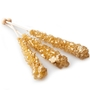Wrapped Gold Rock Candy Crystal Sticks