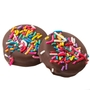 Rainbow Sprinkles Dark Chocolate Coated Sandwich Cookies