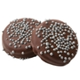 Silver Pearls Dark Chocolate Coated Sandwich Cookies