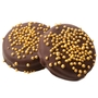 Gold Pearls Dark Chocolate Coated Sandwich Cookies