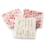 Oh! Nuts Peppermint White Chocolate Bark Square