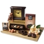Purim Mahogany Mantle Clock Shalach Manos