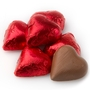 Red Milk Chocolate Hearts shaped
