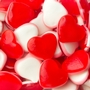 Red & White Hearts fini gummy - 2.2 LB Bag