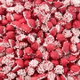 Red Mini Creamy Mint Nonpareils Drops - 1 LB Bag