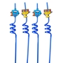 Hanukkah Dreidels and Menorahs Crazy Straws - 4 Pack