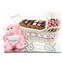Mirror Tray Baby Girl Carriage Gift Basket