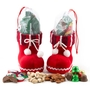 Holiday Santa Booties With Goodies - Stripes
