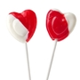 Strawberry & Cream Heart Lollipops
