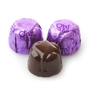 Non-Dairy Hazelnut Purple Foiled Chocolate Truffles