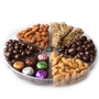 Premium 6-Section Chocolate & Nut Tray - 1 LB Platter