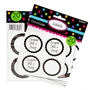 Black Favor Sticker Labels 20ct