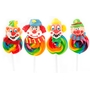 Purim Clown Rainbow Swirl Lollipops - 24 CT