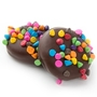 Colorful Chocolate Chips Dark Chocolate Coated Sandwich Cookies