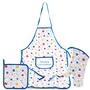 Hanukkah Dreidel Design Kitchen Apron, Oven Mitt and Pot Holder Set