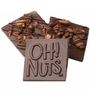 Oh! Nuts Honey Pecans Dark Chocolate Bark Square