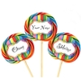 Custom Rainbow Lollipops
