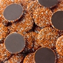 Orange & White Dark Chocolate Nonpareils