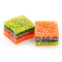 Handmade Rainbow Jelly Squares - 8 oz