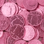 Dark Pink Chocolate Coins